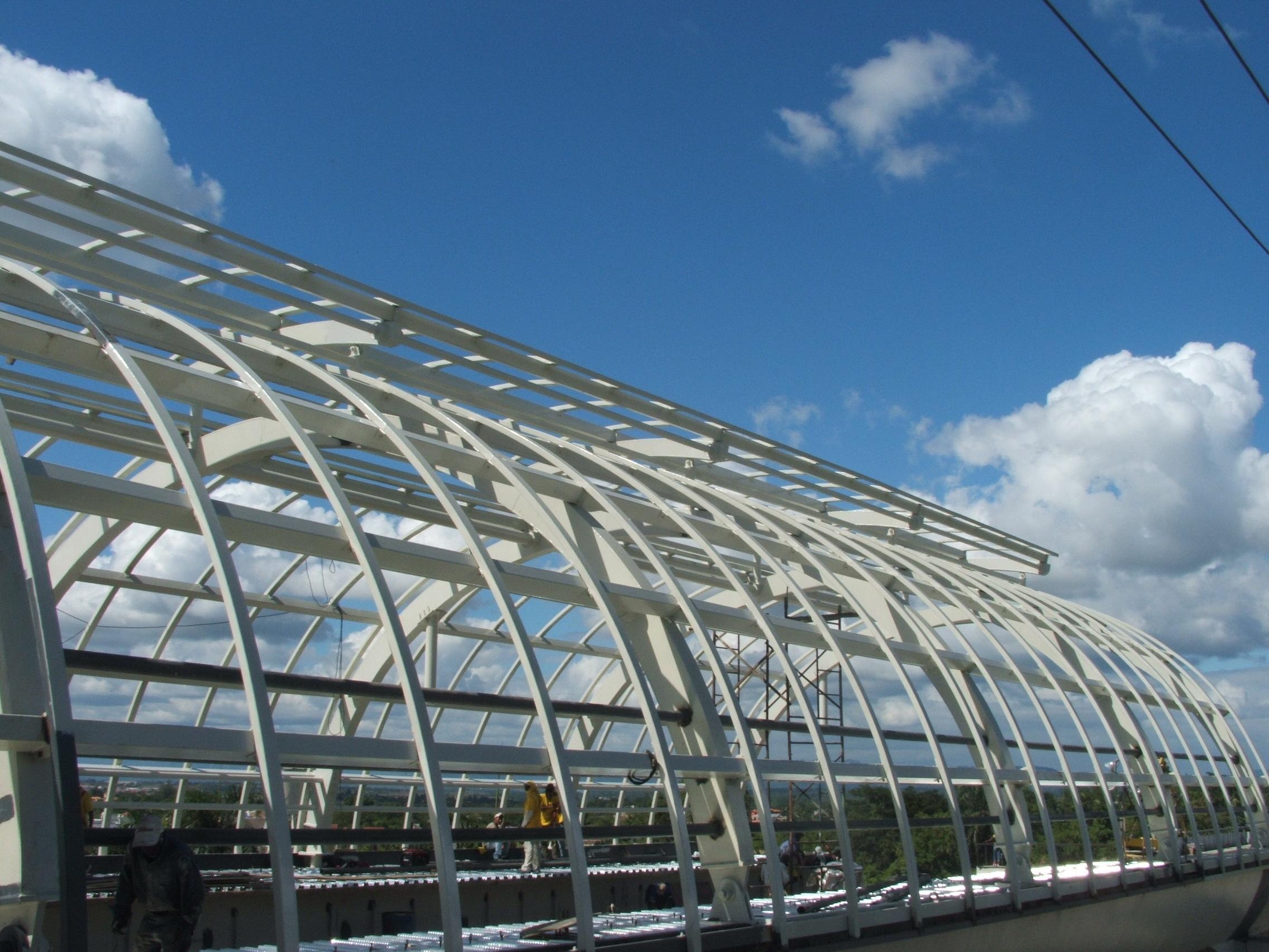 Estacion Charles de Gaulle estructura metalica techo santo domingo