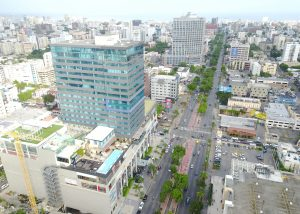 The Blue Mall is located in the center of the city of Santo Domingo, on Av. Winston Churchill